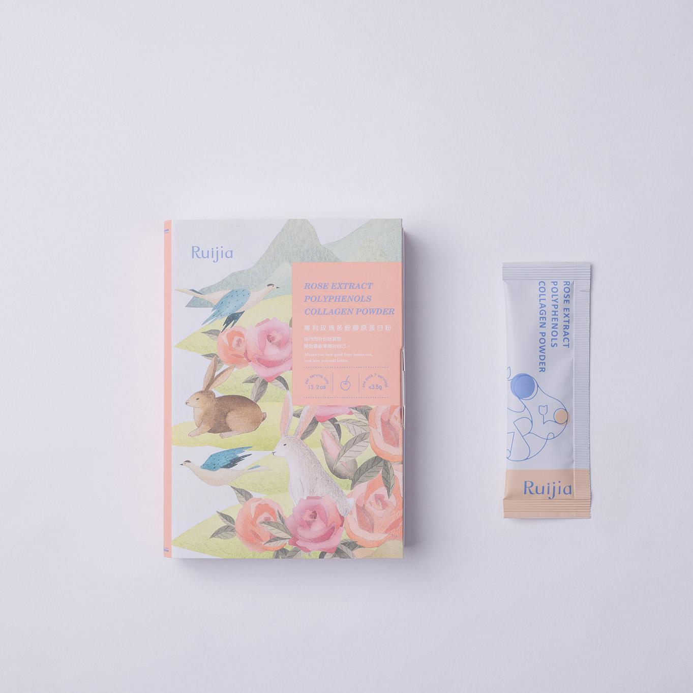 專利玫瑰多酚膠原蛋白粉(7日份) Rose Extract Polyphenols Collagen Powder