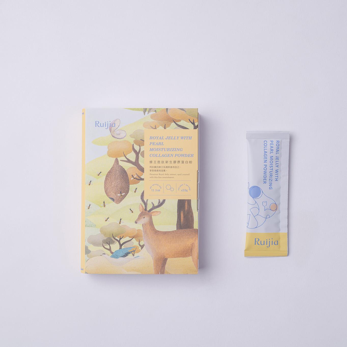 蜂王胜肽新生膠原蛋白粉(7日份) Royal Jelly With Pearl Moisturizing Collagen Powder
