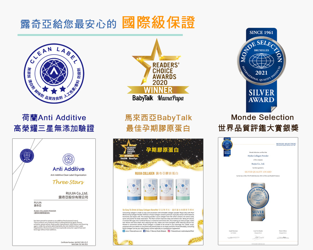 international awards peace of mind